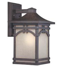 Quoizel's outdoor lighting introductions include ETN8408IB, which has an Imperial bronze finish and etched amber seedy glass. quoizel.com