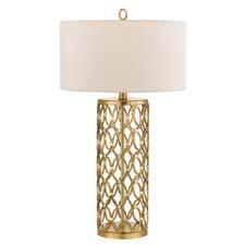 In its Candice Olson collection, AF Lighting will add the Cosmo table lamp, which has individually welded and hand-applied oval rings. aflighting.com