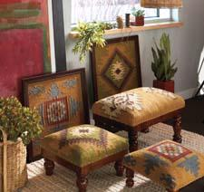 Reflecting the natural style of Midwest-CBK's all-American Heartland collection, new foot stools and wall decor feature the designs Dakota, Heartland and Ozark. mwcbk.com