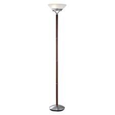 Adesso's 72-inch Gotham floor lamp comes in either walnut, shown here, or satin steel with satin steel accents. adessohome.com