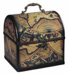 Sterling's #118-015 is a set of two world map boxes from its worldly goods collection. mysterlinghome.com