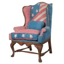 Introduced at last month's High Point Market, the bold Betsy Ross Wing Back Chair is one of Waites' new pieces for Guildmaster. guildmaster.com