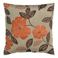 Surya's HH53 pillow, an orange and brown floral on a neutral background. surya.com