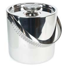 Barware, such as this Watchband ice bucket, is an integral part of the Lauren Ralph Lauren tabletop collection. fitzandfloyd.com