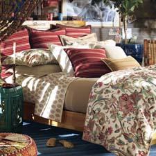 Antigua exemplifies Ralph Lauren's flair for combining a heritage look with a modern viewpoint. ralphlauren.com/bedding