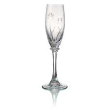 Tranquility stemware is part of the new Kathy Ireland Home Collection by Rogaska, retailing for $75 for a set of two flutes. rogaskausa.com