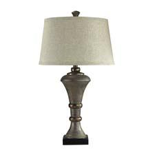 Dimond's new licensed Biltmore collection includes the Edith Vanderbilt-inspired Edith collection table lamp with grenadine stone finish. dimondlighting.com
