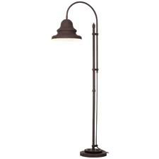 The Industrial Gear floor lamp from Pacific Coast Lighting has a metal shade that swivels 360 degrees. pacificcoastlighting.com