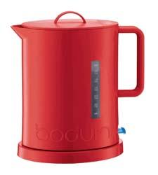 Bright red makes Bodum's Ibis electric kettle a standout product. bodumusa.com
