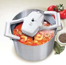 The Ardente Gourmet Stirrer can automatically stir the contents of a pot, either continuously or intermittently. It works with any 9- to 14-inch two-handle pot. ardentegourmetstirrer.com