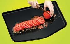 Argee's BPA-free Chop Keeper has raised sides to prevent spills, splash and splatter. argeecorp.com