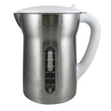 The Vision water filtration pitcher from Base Brands is made of 18/8 stainless steel and can fit filters from major brands such as Brita and Pur. basebrands.com