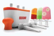 The Zoku Quick Pop Maker can freeze plain, striped yogurt or even flavored core pops in as little as seven minutes. zokuhome.com