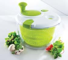 Leifheit's introductions include this salad spinner, which has right-left hand ease of operation. leifheitusa.com