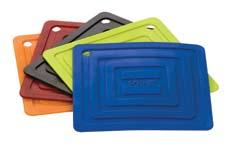 Lodge enters new categories at the show, including stainless steel cookware and silicone accessories. The silicone square pot holder comes in five colors. lodgemfg.com