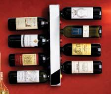 Vynebar's wine racks are modern, functional art that display wine in a colorful, stylish way. Available in 18 different colors and finishes. vynebar.com