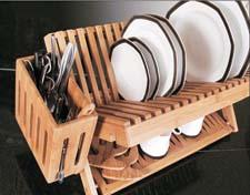 Wilshire's Island Bamboo brand adds a dish rack, which has specially engineered grooves to hold 3/4-inch cutting boards and a generously sized utility box. wilshireindustries.com