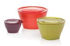 Aladdin's Collapsible Bowl Set includes 32-, 16- and 4-ounce BPA-free bowls. They are leak-proof and microwave- and dishwasher-safe. aladdin-pmi.com