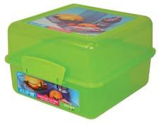 Sistema US' line of food storage grows with items to carry breakfast, salad and sandwiches. The Lunch Cube, here, comes in blue, pink and green. SistemaUS.com