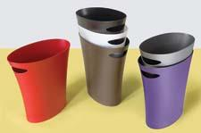 Umbra's Skinny cans can fit into almost any tight space, and have a capacity of two gallons. They were designed by Karim Rashid and David Quan. umbra.com