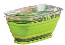 Progressive's Collapsible Mini Produce Keeper helps fruits, vegetables and herbs last longer and has a two-quart capacity. progressiveintl.com