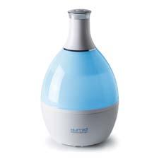 The Humio humidifier from Tribest has LED lighting and can be adjusted for high and low levels of humidity. tribest.com