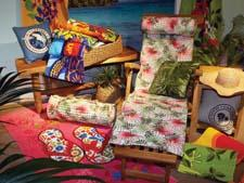 The Island Essentials Outdoor Mat & Pillow Set, with an attached shoulder strap, joins the Caribbean Joe lineup at WestPoint Home. martex.com