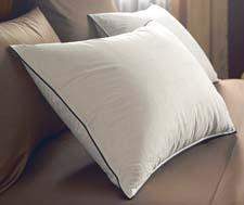 The StayLoft Pillow from Pacific Coast Feather is filled with more down to create a firmer pillow. pcf.com