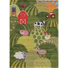 Farm life is one of the new designs in Momeni's 'Lil Mo Whimsy line, which targets preteens, and which is called LMJ-11 Grass. Tufted in mod-acrylic, the group also has a new flying-themed design called LMJ-10 Sky. Momeni launched its kids' line more than two years ago, and, besides 'Lil Mo Whimsy, includes 'Lil Mo Classic for the infant and toddler set and 'Lil Mo Hipster for 'tweens and beyond. Each group now offers seven to 12 designs. momeni.com