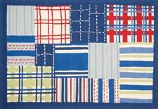 "The second release of the Safavieh Kids collection launched this year, with ten additional designs handtufted in New Zealand wool. The sophisticated styles include a red, white and blue patchwork rug, shown here, that coordinates in color to a fun multi-stripe. ""A benefit to these very clean and crisp designs is that they adapt to changes in furniture as the child grows older,"" said Arash Yaraghi, principal of Safavieh. ""That same clarity of pattern allows for better readability on websites and catalog pages, which are increasingly important in kids' retail."" safavieh.com"