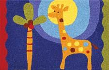 New for 2011, the latest designs from the Brenda Pinnick for Jellybean line, which include Polka Dot Giraffe (#JB-BP001) here, can be used in the playroom, bedroom, kitchen or patio. In a 22-by-34-inch size, the rugs are washable and are handhooked of a polypropylene and acrylic blend, made from 35 percent recycled materials. An in-store rolling display for the line is also available. jellybeanrug.com