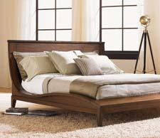 Lexington's 11 South Collection, including the Urbana Sleigh Bed, features contemporary design. lexington.com