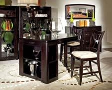 Broyhill's contemporary Alliance collection includes this table featuring storage and curved wood. broyhillfurniture.com