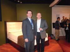 Tempur-Pedic held its usual Monday night party during Las Vegas Market. Mark Sarvary, left, and Rick Anderson, both with Tempur-Pedic.