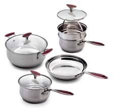 Gibson, a long-time Ambiente exhibitor, will feature the Oster Camborne eight-piece stainless steel cookware set with a custom handle design. gibsonusa.com