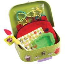 The lunchbox-sized Kids Chefs Kit from Mastrad is designed to inspire children to learn how to cook. mastrad.us
