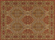 Karastan went into its archives to reintroduce the Heritage Kirman, an Axminster pattern that debuted first in 1941 but has been updated with shades of red and brown. karastan.com