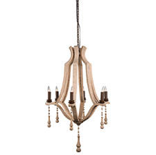 Showing in Las Vegas, Four Hands will introduce the Umbria Chandelier, made of solid Sheesham wood and finished with rich black and brown hues. fourhands.com