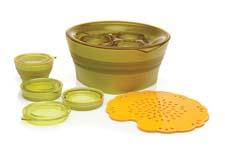 Aladdin's new Collapsible Bowl Set and Collapsible Salad Set feature covered containers that pop up to hold food and collapse flat for easy storage. Leak-proof, microwave- and dishwasher-safe, all of Aladdin's collapsible offerings are BPA-free. aladdin-pmi.com