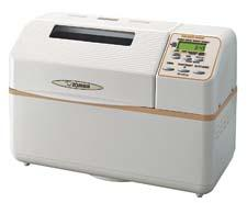 "The Zojirushi Home Bakery Supreme Breadmaker bakes a rectangular-shaped, two-pound loaf of bread, has menu courses for a variety of other cooking needs, and an exclusive ""home made menu"" function that allows adjustments to the knead, rise and bake times. zojirushi.com"