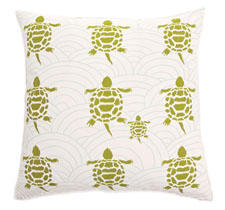 Turtles from Allem Studio is a collection of decorative pillows with hand-screen prints and a solid fabric backing. allemstudio.com