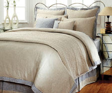 Linen is in the spotlight in the simple, clean and elegant design of Amity Home's Catalina bed ensemble. amityhome.com