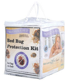 Protect-A-Bed's Bed Bug Protection Kit includes an AllerZip mattress encasement, one boxspring encasement and two AllerZip pillow protectors. protectabed.com