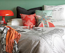 Britain's capital city and its landmarks provide the inspiration for the London Skyline duvet set, new from Blissliving Home. blisslivinghome.com
