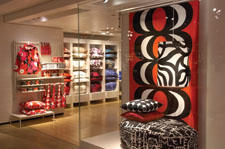 New York shoppers are buzzing about the new Marimekko shop-within-a-shop in SoHo's Crate and Barrel store. The 1,775 square foot space is dedicated exclusively to Marimekko textiles, accessories, bags, bed and bath, kitchen, dining, and select apparel. The first-ever shop culminates a 43-year relationship between the Finnish company and Crate and Barrel.