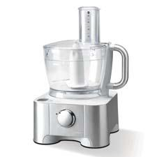 Model DFP950 Food Processor with integrated scale and blender, $399.95 Features a patented dual-drive system that adjusts rotation to accommodate speeds delonghiusa.com