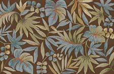 TE4 Chocolate from the Terrace Collection, $249 for a 5-by-7.5 Adds a leafy look to the floor for indoors or out dalyn.com