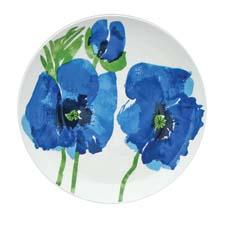Indigo Garden dinner plate, $25 Channel the colorful spirit of the '60s designer zrike.com