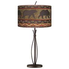 Winding River Floor Lamp with Chestnut Bear Shade, $289.55. The iconic bear is on the move again in this Woolrich-branded lamp shadyladylighting.com