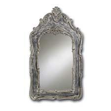 #1012 Marais Mirror, $970 Bring a country casual look indoors with an antique gray wash finish curreyandcompany.com